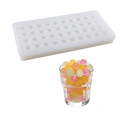 Sweet Candy Bakery - Stampo per cubetti di ghiaccio, in silicone, per cubetti di ghiaccio, per cubetti di ghiaccio, a forma di sfera, per cioccolatini