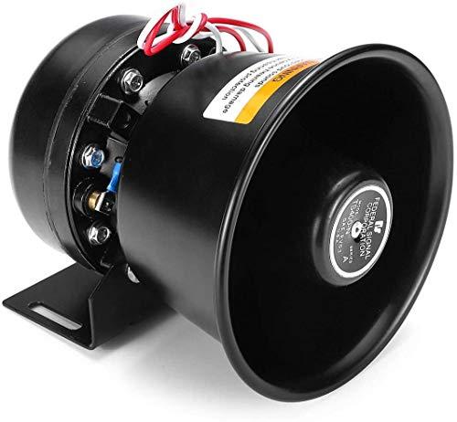 ZW18U PC 1 Perfectamente 12V 400W 9 Bueno 150dB Gimcrack Alarma de Advertencia de Alarma Police Fire Siren Horn Horn System System Mecánico Piezas de Repuesto