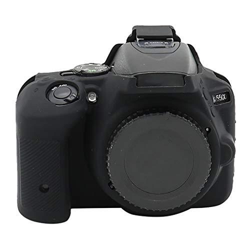 bloatboy Kompatibel für Nikon D5500 / D5600 Camera Schutzhülle - Gummischale Kamera Silikonhülle Skin Body Cover Fall Schutzhülle (Schwarz)