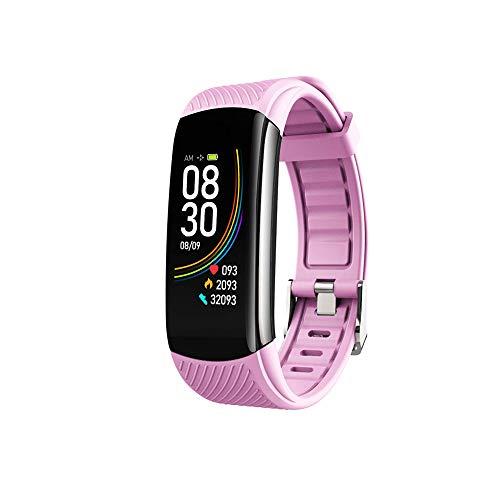 SmartWatch, Relojes para Hombres Mujeres Fitness Tracker Monitor de Presión Sanguínea Medidor de Oxígeno en la Sangre Monitor de Frecuencia Cardíaca IP67 Impermeable (Rosa)
