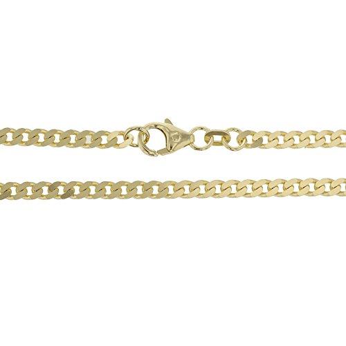 Pantserketting in 585 gouden ketting halsketting 60 cm geelgoud 14 karaat - 13.11101