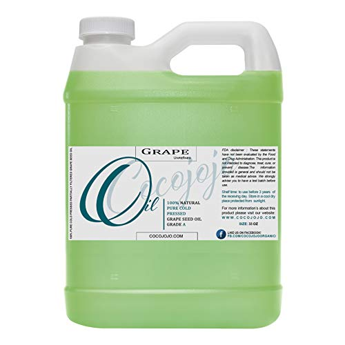 Grapeseed Oil - 100% Pure Unrefined Cold Pressed...
