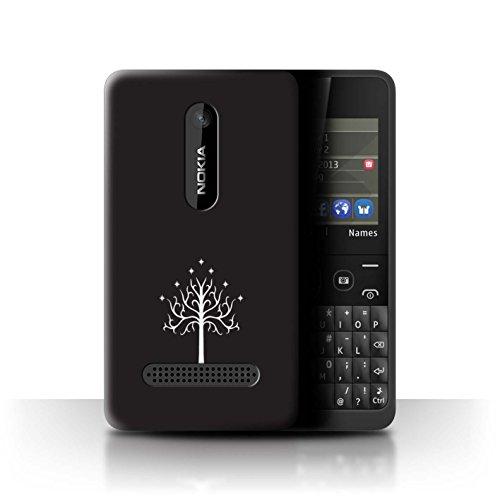 Hülle Für Nokia Asha 210 LOTR Fantasie Inspiriert Weißer Baum Gondor Design Transparent Ultra Dünn Klar Hart Schutz Handyhülle Case