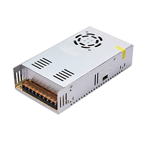 KINGPRINT DC 12V 30A 360W Universal Regulated Switching Power Supply for 3D Printer, CCTV, Radio, LED Strip Lights, Computer Project