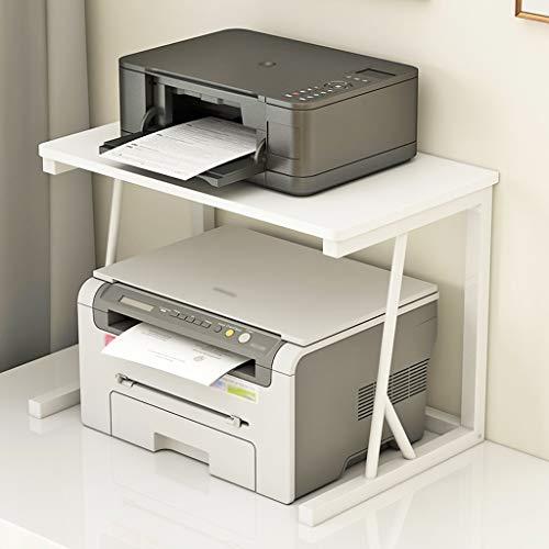 Soportes de Impresora Marco de acero estable Diseño del estante de la impresora multifuncional de 2 capas de almacenamiento en rack rack Ministerio del Interior de la impresora de escritorio Organizad