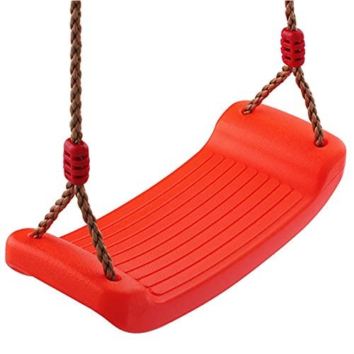 YYDMBH Columpios Cuerda al Aire Libre Colgando Tablero de flexión Tablero Silla de Swing de diversión de plástico Equipo Interior (Color : Random Color)