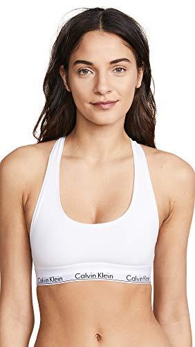 Calvin Klein Women's Regular Modern Cotton Bralette, White, Small