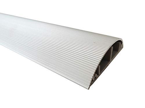 1m Aluminium Fussboden Kabelkanal 70mm breit selbstklebend (Außenmaß)