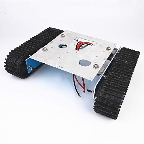 TMIL Aluminium Ketten Roboter-Intelligente Auto-Fahrgestelle, Panzer Roboter Metallplattform Mit Controller Loch-Befestigung, Raupenfahrwerk DIY Arduino Bausatz