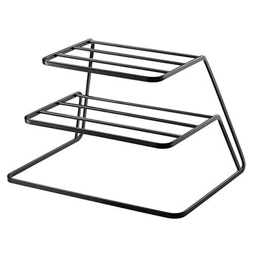 SMEJS Negro escurridor, Moda Hogar ESCURREPLATOS Platos de Cocina de Metal de Drenaje Vaso y del Plato de Almacenamiento