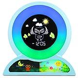 MOREASE Réveil Enfant Lampes de Réveil 5 Couleurs Lumières Réveil Numérique Affichage LCD Réveils Lumineux Affichage de Heure Cadeau pour Enfants