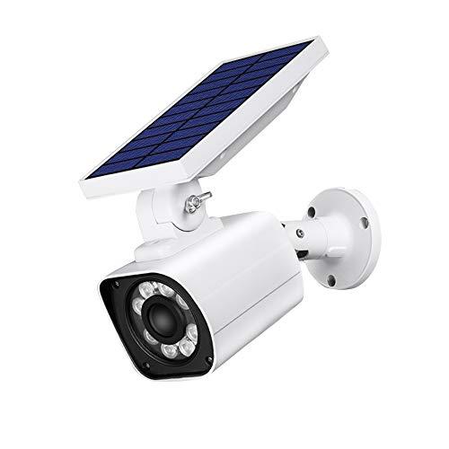 Rwdacfs Lámparas solares, Cámara de vigilancia analógica Solar Ip66 Nuevo Control de luz Solar y detección de Cuerpo Humano lámpara de Pared para jardín luz Exterior para el hogar