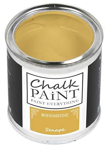 Everything CHALK PAINT BOHEMIENNE Senape 250 ml - SENZA CARTEGGIARE Colora Facilmente Tutti i Materiali