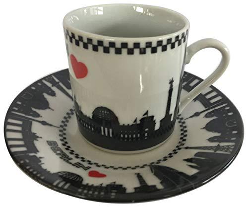 2er Espresso Tassen Berlin Souvenir ( 2 Tassen und 2 Untersetzer)