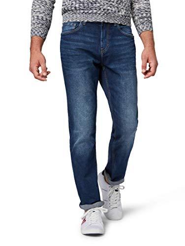 TOM TAILOR Herren Slim Jeans Josh Slim, Blau (Mid Stone Wash Denim 1052), 34W / 34L