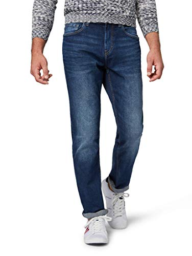 TOM TAILOR Herren Slim Jeans Josh Slim, Blau (Mid Stone Wash Denim...