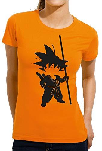The Fan Tee Camiseta de Mujer Dragon Ball Goku Vegeta Bolas de Dragon Super Saiyan 041 M