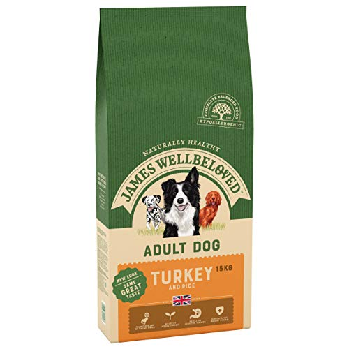 James Wellbeloved Complete Dry Adult Dog Food Turkey and Rice, 15 kg