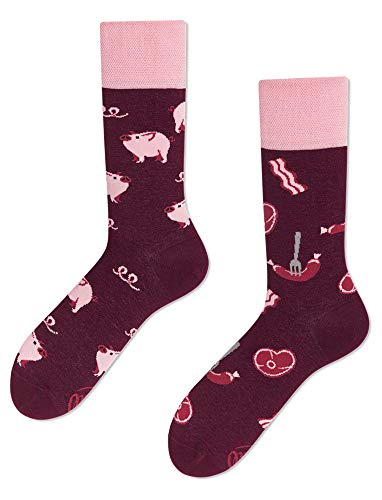 Many Mornings Verrückte Socken - Fun Socks - Piggy Tales - Schweinchen - (39-42)
