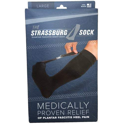 Strassburg Sock Black Large(Measurer at Fullest Part of Calf, 16'-21'Around is for The Large Size.