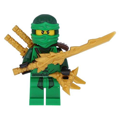 LEGO Ninjago - Figura de ninja verde Lloyd Green con 5 armas, incluye espada de dragón