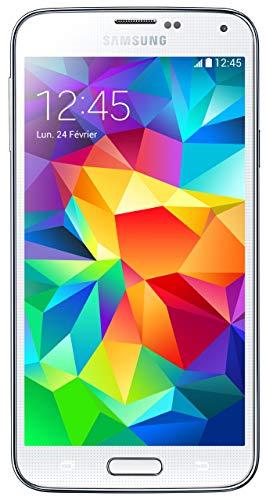 Samsung Galaxy S5 Smartphone débloqué 4G (Ecran: 5.1 pouces - 16 Go - Android 4.4.2 KitKat) Blanc (Reconditionné Certifié)