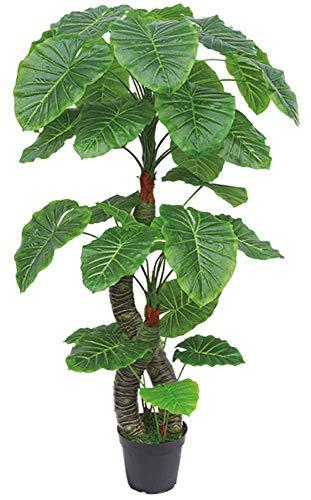 Decovego Aronstab Araceae Arum Taro Kunstpflanze Kunstbaum Künstliche Pflanze mit Topf 170cm
