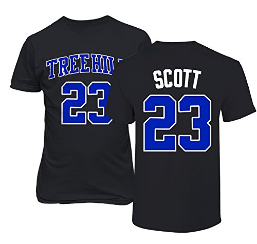 KINGS SPORTS Ravens Basketball Movie #23 Nathan Scott One Tree Hill Jersey Style Men's T Shirt (Black,M)