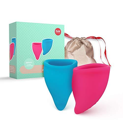 Fun Factory FUN CUP - Copa menstrual talla A silicona medica (incluye 2 copas, neceser e instrucciones) Made in Germany