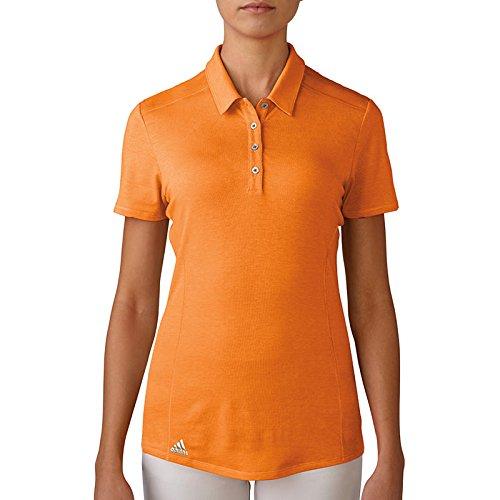 adidas Performance Polo de Golf, Mujer, Naranja, XS