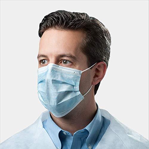 Grippeschutzmaske, Schutzmaske/Atemschutzmaske, mit Ohrschlaufen, schützt vor Viren und Verschmutzungen, 10Stück