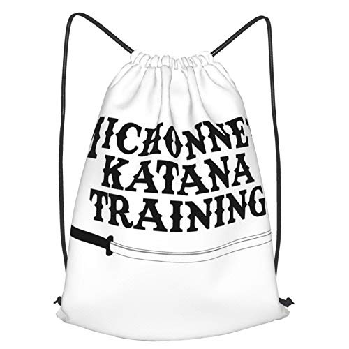 Michonnes Katana Training Walking Dead Drawstring Backpack Bag Men'S Women'S Sports Fitness Backpack Travel School Hiking Yoga Travel Beach