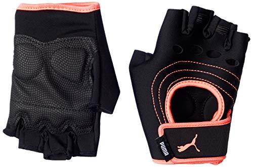 PUMA at Damen Training Handschuhe Puma Black-NRGY Peach M