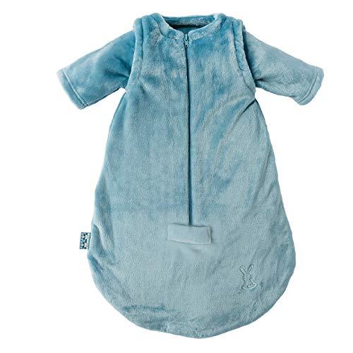 Nattou Ganzjahres-Schlafsack Hase Lapidou, Mit abnehmbaren Ärmeln, TOG 1.9, 65 cm, Petrolblau
