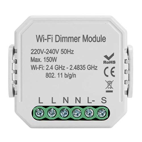 SODIAL WiFi Smart Dimmer Light Switch Module Smart Life/Tuya App Control Remoto Trabaja con Alexa Echo Home