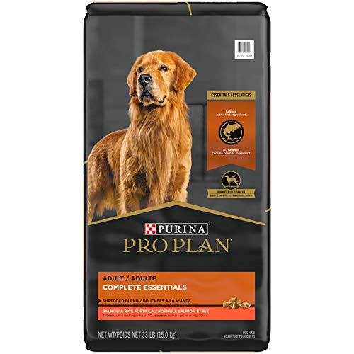 Purina Pro Plan High Protein Dog Food With Probiotics for Dogs, Shredded Blend Salmon & Rice Formula - 33 lb. Bag