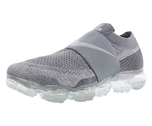 Nike Women's Air Vapormax FK Moc AA4155 006 Size 9 Cool Grey/Wolf Grey-Hot Punch