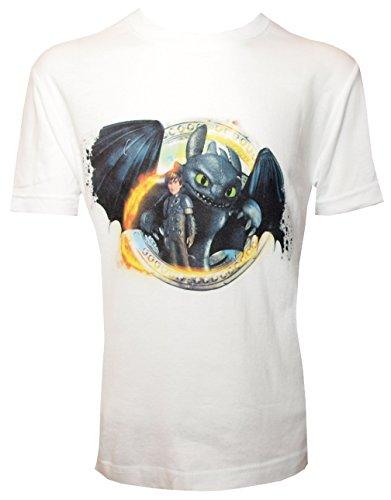 Dragons DreamWorks T-shirt voor kinderen zonder tanden toothless hicks, wit