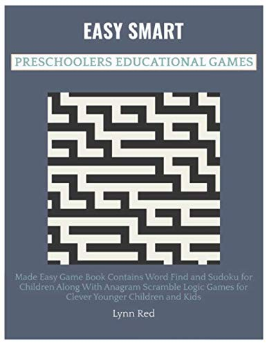 Easy Smart Preschoolers Educational Games: Made Easy Game Book Contains Word Find and Sudoku ...