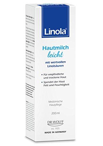 Linola Hautmilch leicht, 1 x 200 ml - für empfindliche und trockene Haut