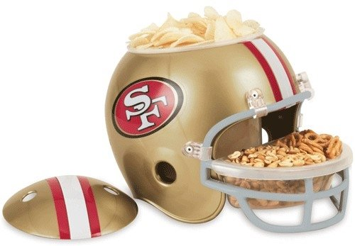 Hall of Fame Memorabilia San Francisco 49ers Snack Helmet