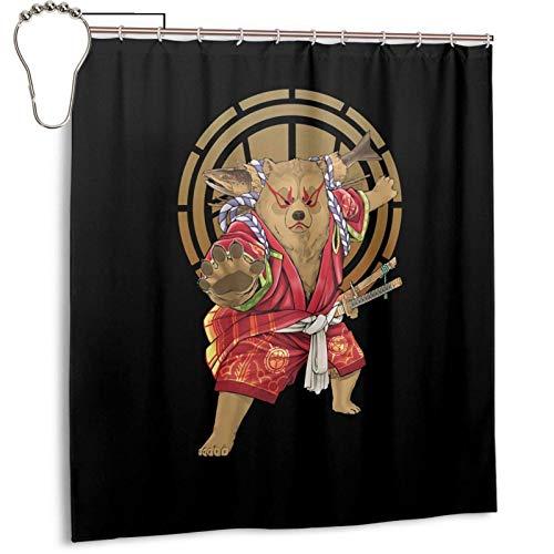 YANPING Kabuki Bearshower Vorhang Familiendekoration 66x72 Zoll