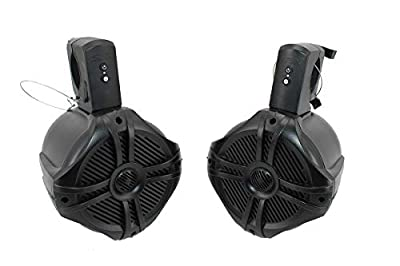 SDX Pro Audio - 6.5 inch 350W Fully Wireless Bluetooth Marine Speaker System (Pair) - Wakeboard Tower/Waketower and Fits Rollbar/Rollcage - Rechargeable, No Wiring/Cables Needed - No Receiver Needed from Sondpex