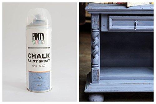Pintura a la tiza en aerosol, con base al agua, varios colores,400ml , BLUE INDIGO, 400 ml