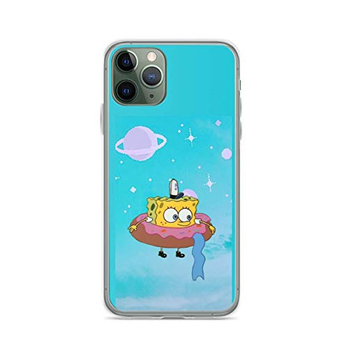 Phone Case Sponge-bob in The Donut Compatible with iPhone 6 6s 7 8 X XS XR 11 Pro Max SE 2020 Samsung Galaxy Shock Funny
