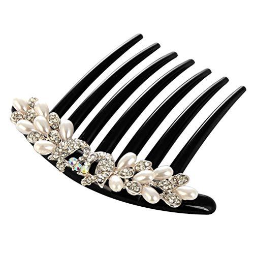Lurrose Haarkamm Schmuck Vintage Kopfschmuck Zubehör Frauen Mädchen Braut Perlen Kristall Haarschmuck (Pfau)
