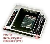 HDD/SSD SATA III Adaptador Compatible con MacBook y MacBook Pro Unibody 13' 15' 17' (sustituye SuperDrive) 9.5 mm Caddy (SATA - SATA) - TheNatural2020
