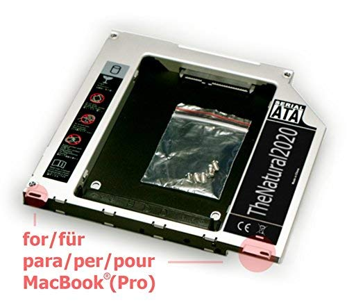 HDD/SSD SATA III Caddy kompatibel mit Apple MacBook (Pro) 13