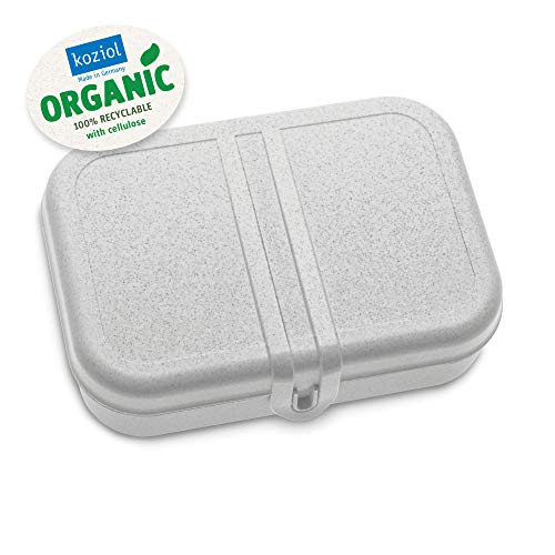 Koziol Pascal L Lunchbox, Brotdose, Butterbrotdose, Frühstücksdose, Vesperdose, Proviantdose, Organic Grau, L