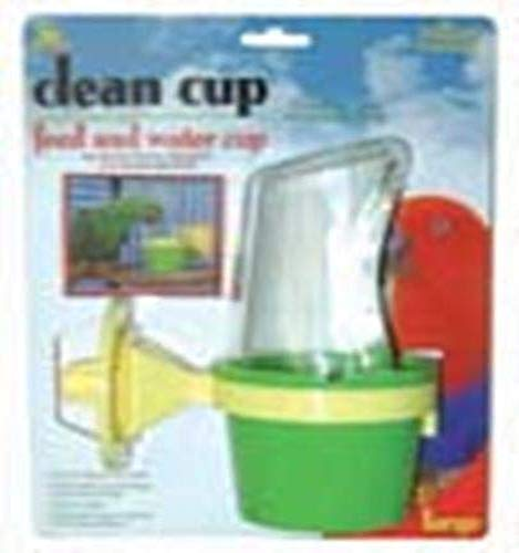 JW Pet Company Clean Cup Feeder and Water Cup Bird Accessory, Larg